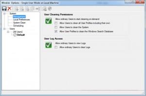 Interfaccia grafica del software WinDisk per la pulizia del PC