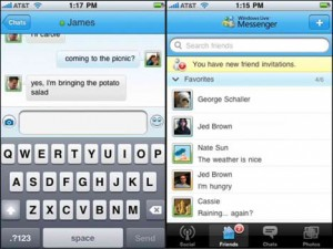 Windows Live Messenger per iPhone
