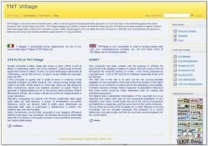 Immagine del sito TNT Village per scaricare torrent italiani