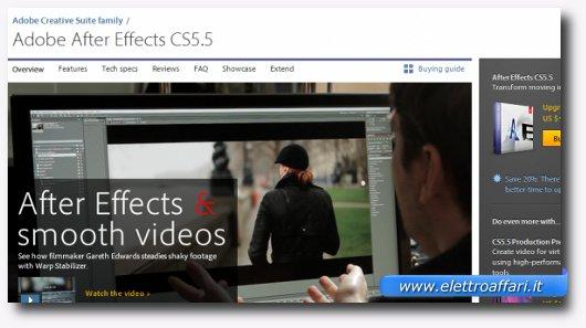 Immagine del programma Adobe AfterEffects