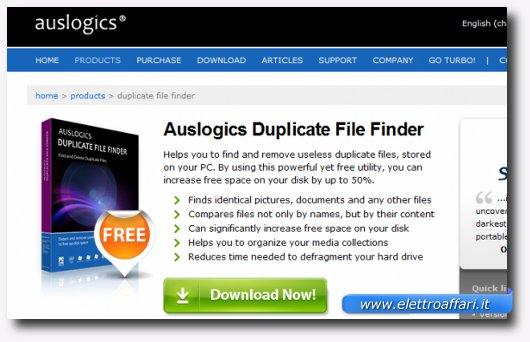 Immagine del programma Auslogics Duplicate File Finder