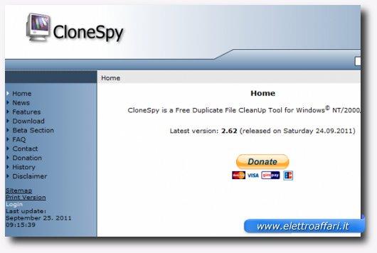 Immagine del programma CloneSpy