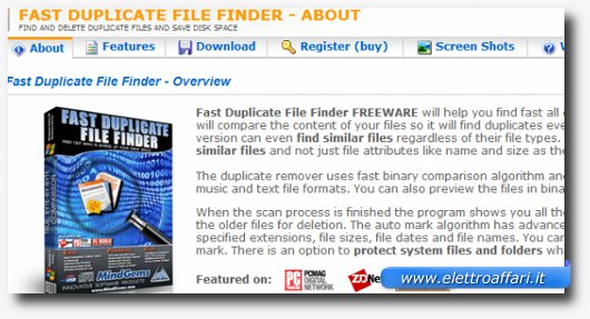 Immagine del programma Fast Duplicate File Finder