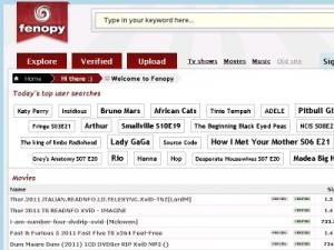 Immagine del sito Fenopy per scaricare torrent italiani