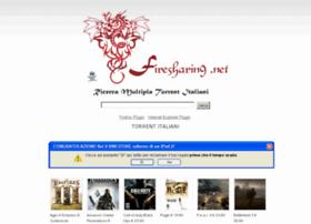 Immagine del sito FireSharing per scaricare torrent italiani
