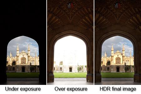 Esempio che mostra come si realizza una foto HDR