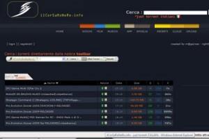 Immagine del sito Il Corsaro Nero per scaricare torrent italiani