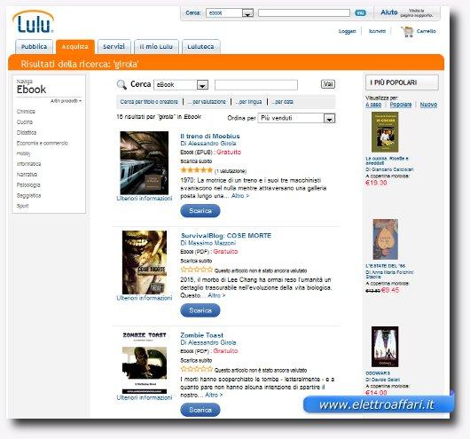 Immagine del secondo sito per scaricare ebook per iPhone