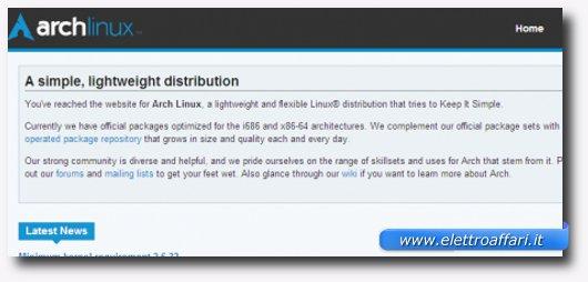 Immagine della distribuzione Arch Linux