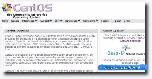 Immagine della distribuzione CentOS
