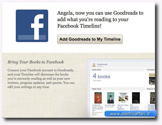 Immagine che mostra come filtrare le applicazioni di Facebook