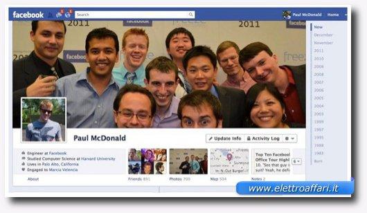 Usare il registro delle attività di Facebook