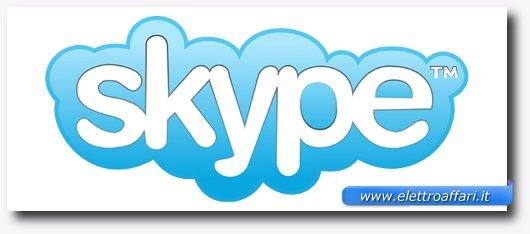 Immagine del logo del programma Skype per videochiamate gratis