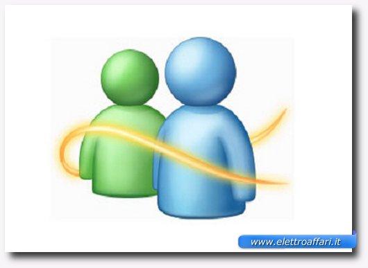Immagine del logo di MSN Live Messenger per videochiamate gratis