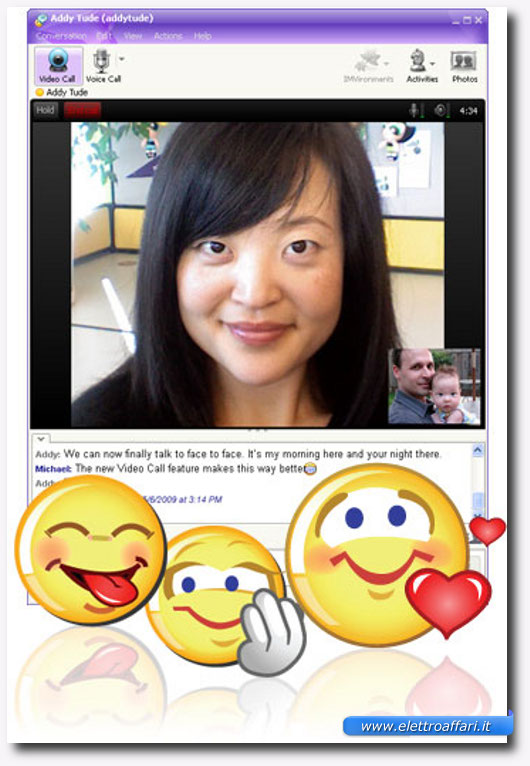 Immagine di Yahoo Messenger per videochiamate gratis