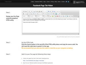 Immagine dell'applicazione Tab Maker per personalizzare Facebook