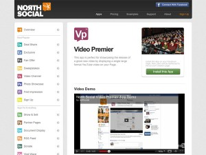 Immagine dell'applicazione Video Premiere per personalizzare Facebook