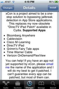 Immagine dell'applicazione XCon per Cydia