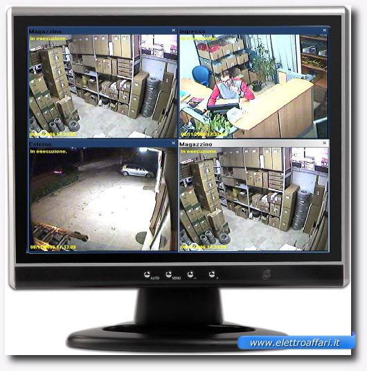 Immagine di un monito di videosorveglianza