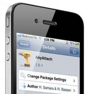 Interfaccia grafica dell'app Anyattach