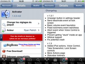 Immagine dell'app Activator di Cydia