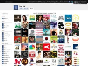 Immagine dell'applicazione Blog Tab per personalizzare Facebook
