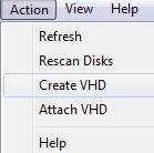 Selezione dell'Hard Disk Virtuale