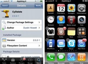 Immagine dell'app CyDelete di Cydia