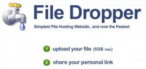Immagine del sito FileDropper per condividere file grandi