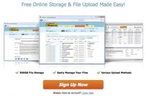 Immagine del sito FileServe per condividere file grandi