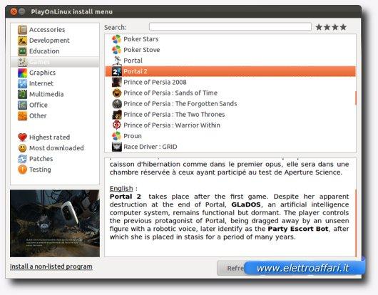 Installazione del primo programma con PlayOnLinux