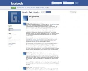 Immagine dell'applicazione Google+ Tab per personalizzare Facebook
