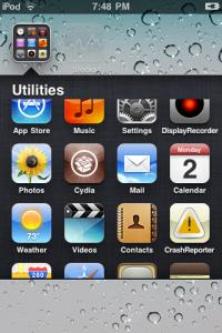 Interfaccia grafica dell'app Infinifolders