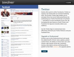 Immagine dell'applicazione Involver Twitter per personalizzare Facebook