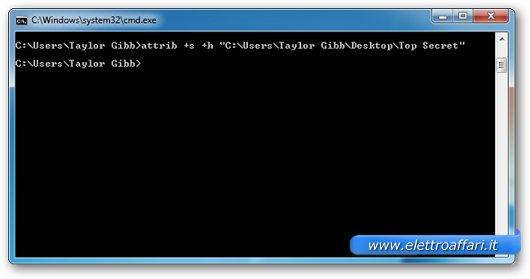 Interfaccia grafica del prompt di DOS su Windows