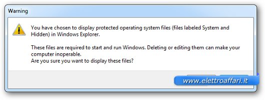 Immagine del messaggio di Windows