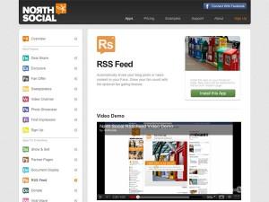 Immagine dell'applicazione North Social RSS Feed per personalizzare Facebook
