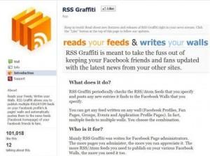 Immagine dell'applicazione RSS Graffiti per personalizzare Facebook