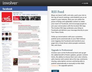 Immagine dell'applicazione Involver RSS Feed per personalizzare Facebook