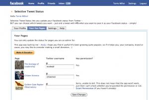 Immagine dell'applicazione Selective Tweets per personalizzare Facebook
