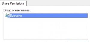 Immagine che mostra la finestra per la scelta dei permessi di condivisione