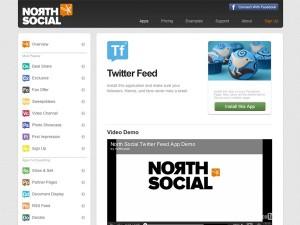 Immagine dell'applicazione North Social Twitter Feed per personalizzare Facebook
