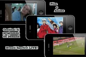 Interfaccia dell'app iTalianTV per iPad