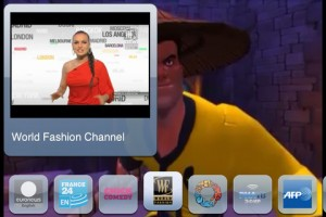 Interfaccia dell'app Sbp TV per iPad