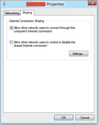 Finestra delle proprietà della connessione WiFi