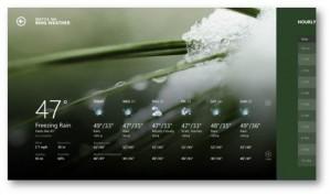 Immagine dell'applicazione Big Weather per Windows 8