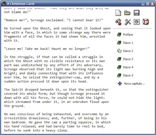Interfaccia grafica di BookWrite