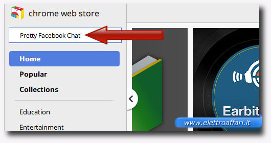 Immagine della ricerca dell'estensione per Chrome