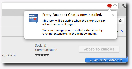 Pretty Facebook Chat è pronto all'utilizzo