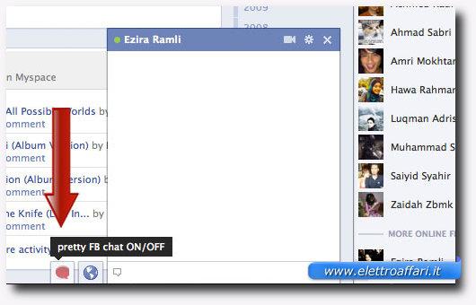Immagine della posizione modificata della chat